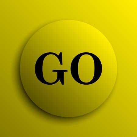 go button: GO icon. Yellow internet button.