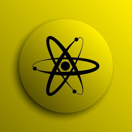 internet button: Atoms icon. Yellow internet button. Stock Photo