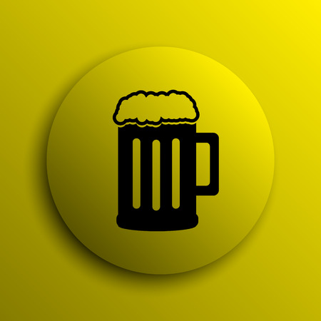 Beer icon. Yellow internet button.