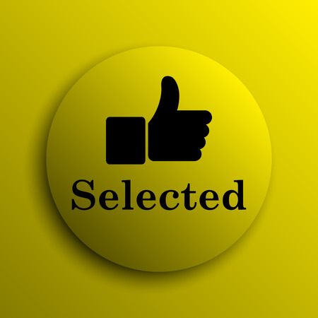 selected: Selected icon. Yellow internet button.