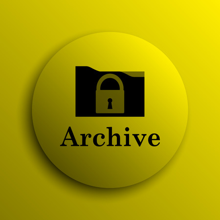 Archive icon. Yellow internet button.