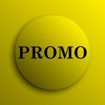 promo: Promo icon. Yellow internet button.