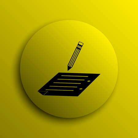 subscribe: Subscribe icon. Yellow internet button.