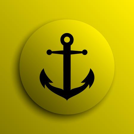 internet button: Anchor icon. Yellow internet button.