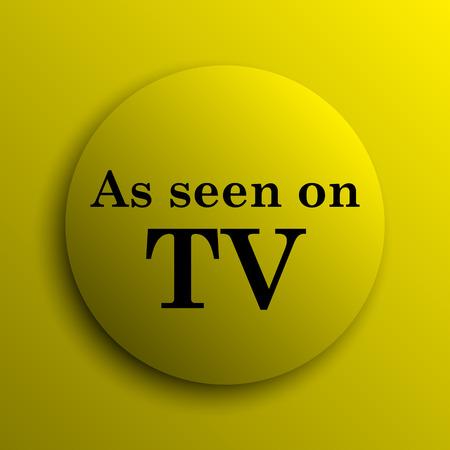 cliche: As seen on TV icon. Yellow internet button.
