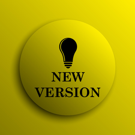 version: New version icon. Yellow internet button.