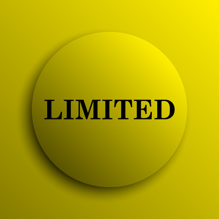 auction off: Limited icon. Yellow internet button.