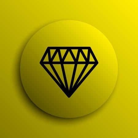 internet button: Diamond icon. Yellow internet button.
