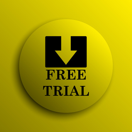 grant: Free trial icon. Yellow internet button.