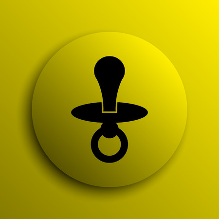 surrogate: Pacifier icon. Yellow internet button.