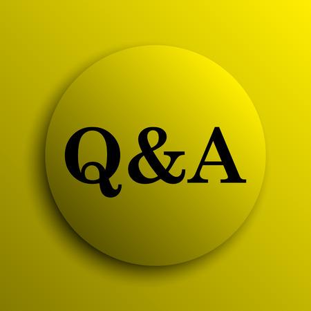 qa: Q&A icon. Yellow internet button.