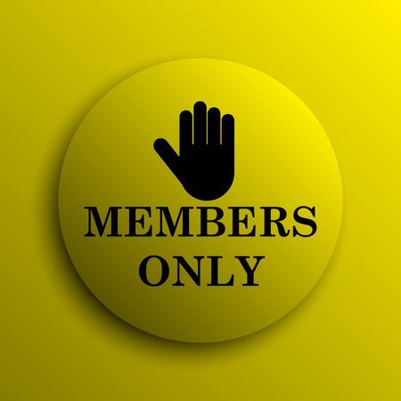 fellowship: Members only icon. Yellow internet button. Stock Photo