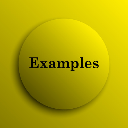 examples: Examples icon. Yellow internet button.