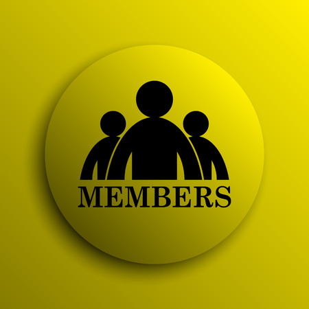 members: Members icon. Yellow internet button.