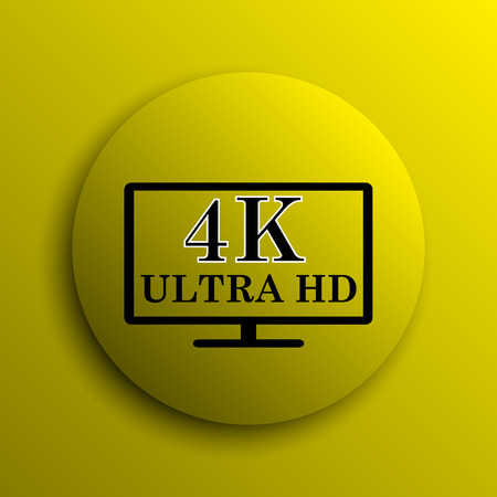 ultra: 4K ultra HD icon. Yellow internet button.