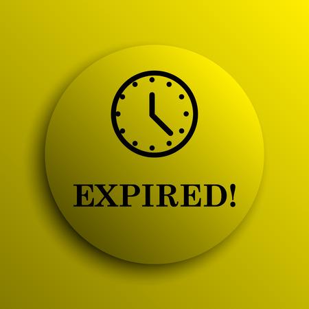 expired: Expired icon. Yellow internet button.