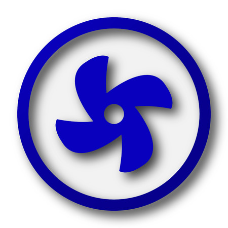 conditioned: Fan icon. Blue internet button on white background.