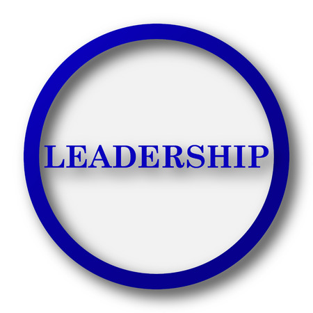superintendence: Leadership icon. Blue internet button on white background.