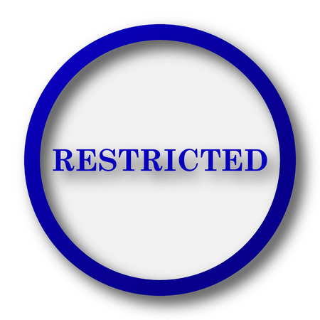 disallowed: Restricted icon. Blue internet button on white background.