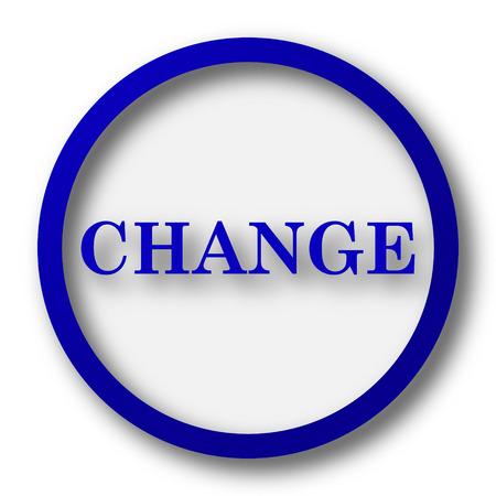 evolve: Change icon. Blue internet button on white background.