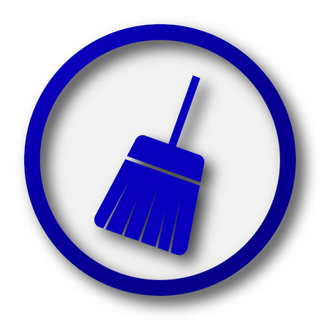 sweep: Sweep icon. Blue internet button on white background.