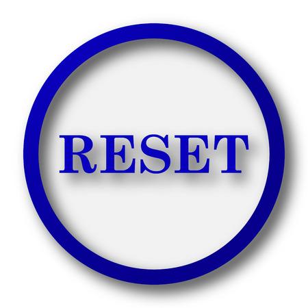 revamp: Reset icon. Blue internet button on white background.