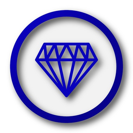 unbreakable: Diamond icon. Blue internet button on white background.