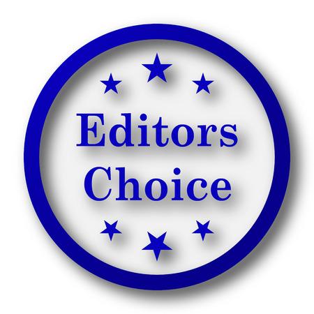 editors: Editors choice icon. Blue internet button on white background. Stock Photo