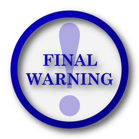 last chance: Final warning icon. Blue internet button on white background.