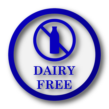 lactose intolerant: Dairy free icon. Blue internet button on white background. Stock Photo