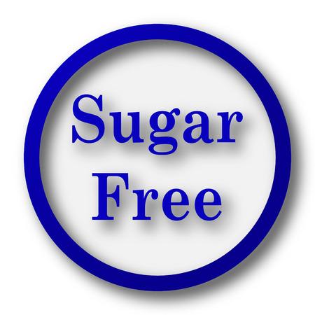 sweetener: Sugar free icon. Blue internet button on white background.