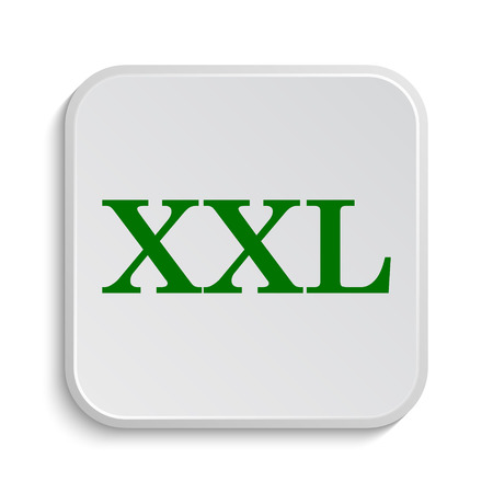 extra large size: XXL  icon. Internet button on white background. Stock Photo