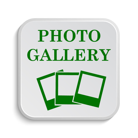 foto: Photo gallery icon. Internet button on white background.