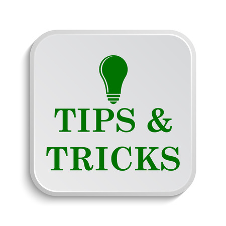Tips and tricks icon. Internet button on white background.