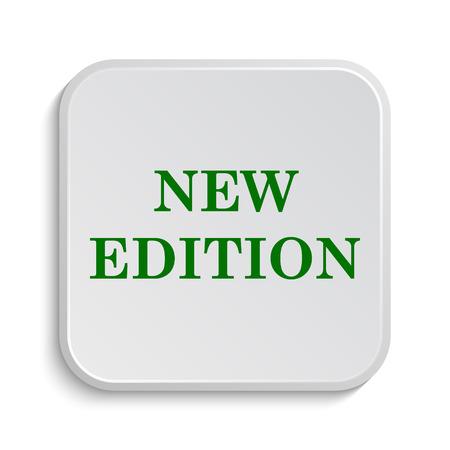 新しい版のアイコン。白い背景の上のインター ネット ボタン。