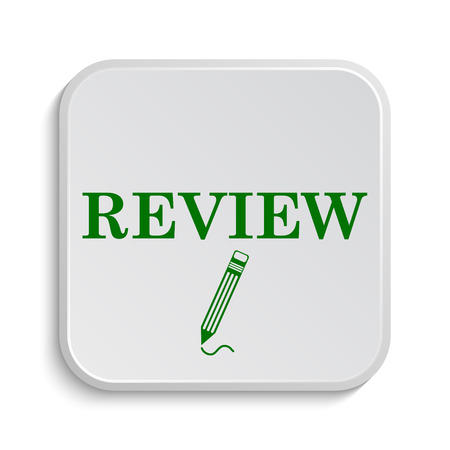 recommend: Review icon. Internet button on white background.