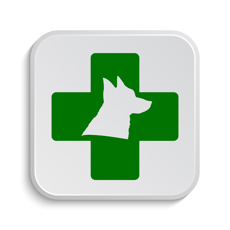 rescue dog: Veterinary icon. Internet button on white background.