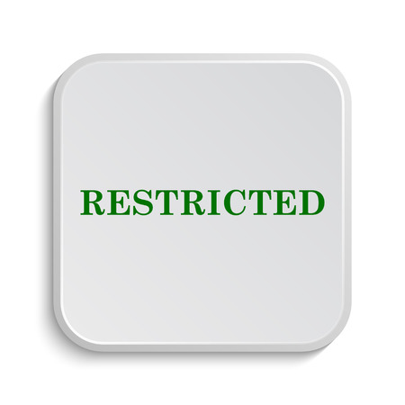 restricted access: Restricted icon. Internet button on white background. Stock Photo