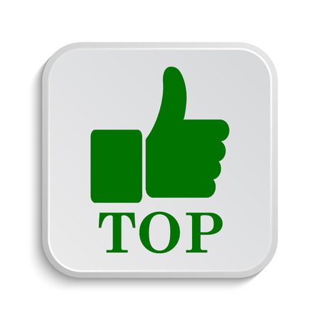 best rated: Top icon. Internet button on white background.