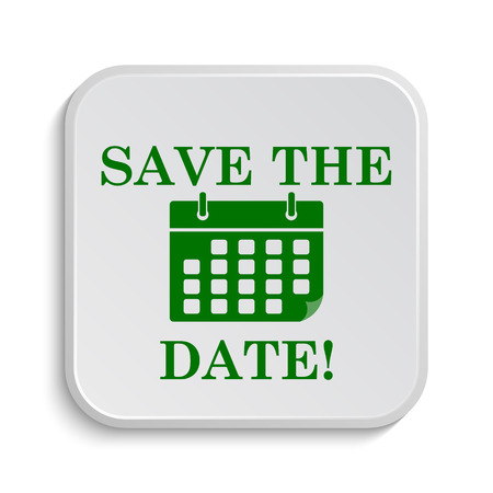 event planner: Save the date icon. Internet button on white background.
