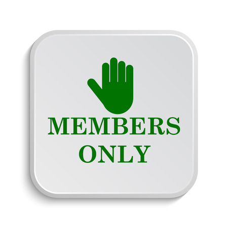 fellowship: Members only icon. Internet button on white background.