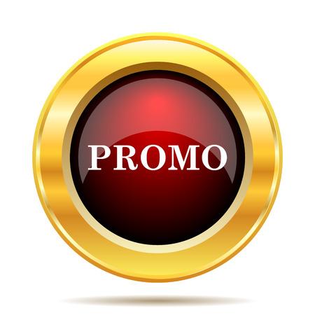 promo: Promo icon. Internet button on white background.