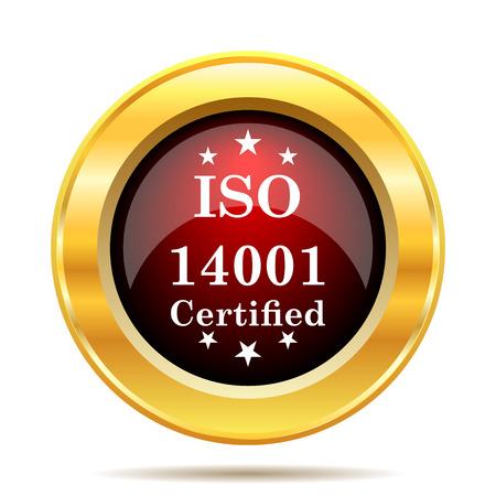ISO14001 icon. Internet button on white background.