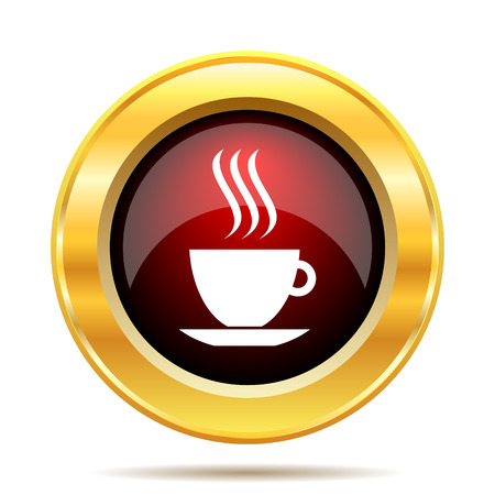 cup icon. Internet button on white background. photo
