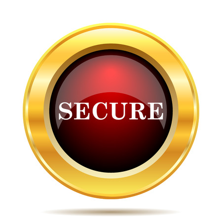 secure: Secure icon. Internet button on white background.