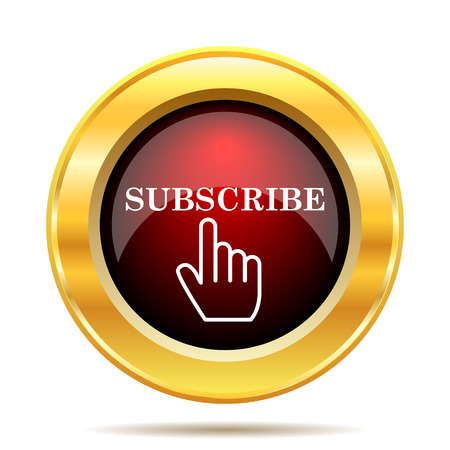 subscribing: Subscribe icon. Internet button on white background. Stock Photo