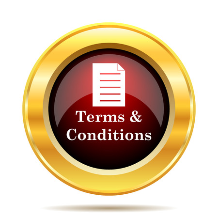 technology agreement: Terms and conditions icon. Internet button on white background.