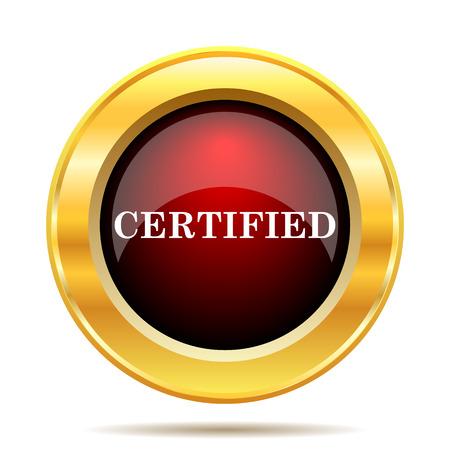 endorsed: Certified icon. Internet button on white background. Stock Photo