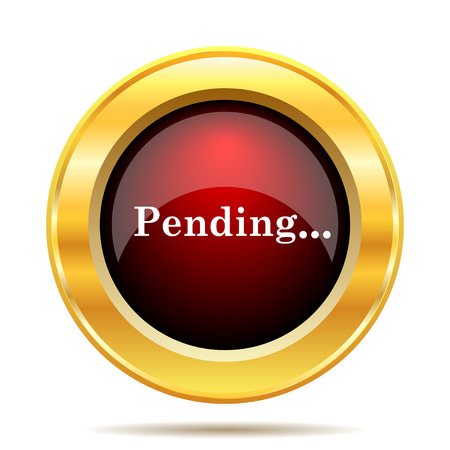 reviewed: Pending icon. Internet button on white background.