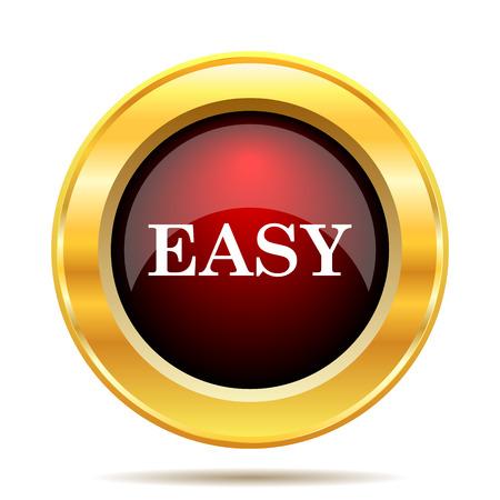 Easy icon. Internet button on white background. Stock Photo